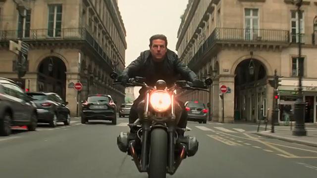 En una Motocicleta