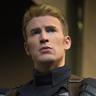 Chris Evans en el papel de Steve Rogers (Capitán América)