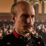 Louis Garrel en el papel de Alfred Dreyfus