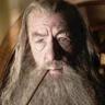Ian McKellen en el papel de Gandalf el Gris
