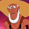 Hal Holbrook en el papel de Amphitryon, Padre Adoptivo de Hércules (voz)