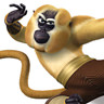 Jackie Chan en el papel de Monkey