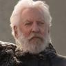 Donald Sutherland en el papel de Presidente Snow