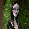 Charlize Theron en el papel de Morticia Addams