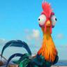 Alan Tudyk en el papel de Hei Hei, el gallo