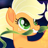 Ashleigh Ball en el papel de Applejack