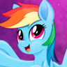 Ashleigh Ball en el papel de Rainbow Dash
