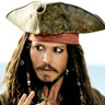 Johnny Depp en el papel de Jack Sparrow