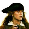 Keira Knightley en el papel de Elizabeth Swann