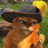 Antonio Banderas en el papel de El Gato con Botas