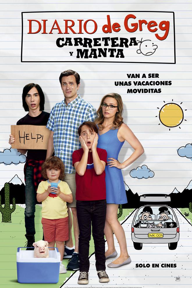 Poster De La Pel Cula Diario De Greg Carretera Y Manta