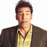 Michael Richards en el papel de Kramer