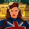 Hayley Atwell en el papel de Capitana Carter