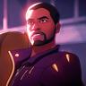 Chadwick Boseman en el papel de T'Challa